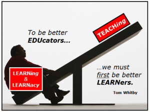 Image from Tony Gurr, allthingslearning.wordpress.com and Tom Whitby, tomwhitby.wordpress.com